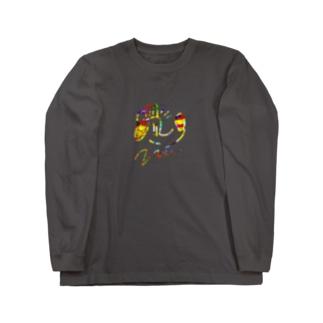 いぬきんぐCOLORFUL Long sleeve T-shirts