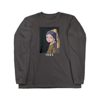 ドット絵 フェルメール Long sleeve T-shirts