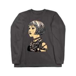 白髪鬼 Long sleeve T-shirts