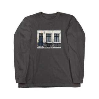 ベルギー ブルージュの自転車 Long sleeve T-shirts