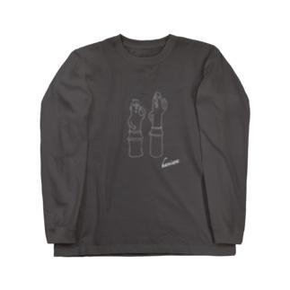 はにわのわの埴輪(はにわ)ー踊る男女 Long sleeve T-shirts