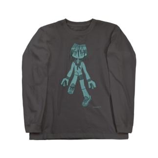 サワヤナギの虹森輝ちゃん水色 Long sleeve T-shirts