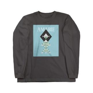 幾何学アマビエさま Long sleeve T-shirts