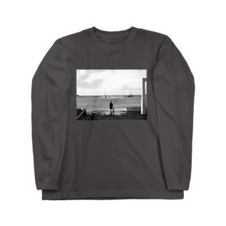 海沿い Long sleeve T-shirts