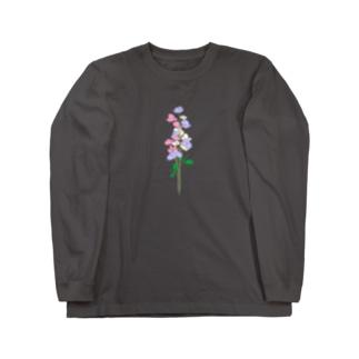 三色のスイートピー Long sleeve T-shirts
