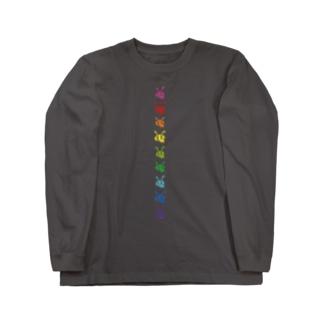 ありんこ縦列レインボー🌈 Long sleeve T-shirts