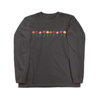 彩りガーベラ Long sleeve T-shirts