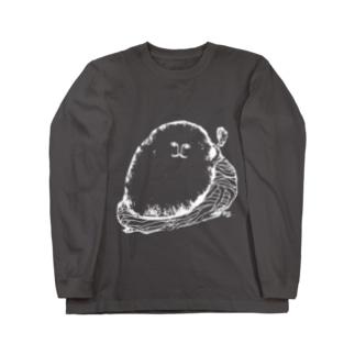 男爵いもコロッケ氏(白ヌキ) Long sleeve T-shirts