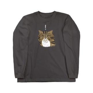 何かを見つけたブラウンエキゾ  Long sleeve T-shirts