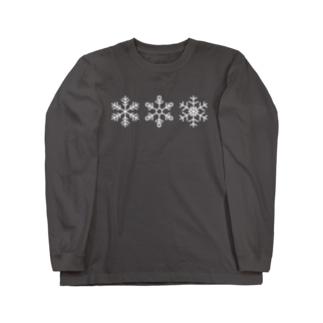 スノーフレーク Long sleeve T-shirts