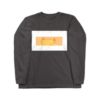 白枠付き!Tra ねこみみマーク Long sleeve T-shirts