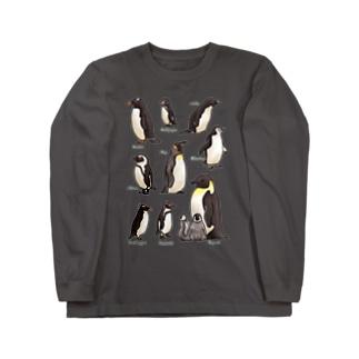 ペンギンだらけ Long sleeve T-shirts