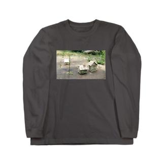 芽吹きの小屋【cardboard house】 Long sleeve T-shirts
