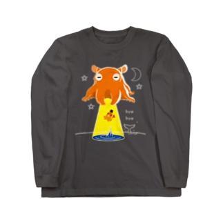 CT145 たこさんwinなーとメンダコUFO Long Sleeve T-Shirt