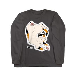 ねじれ猫 Long sleeve T-shirts