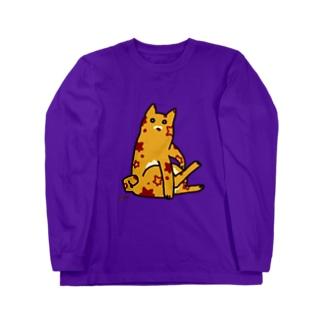 毛づくろいするエイリアン=ネッコ[AlienCat is glooming] Long sleeve T-shirts