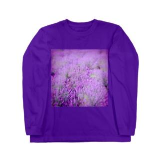 むらむらな紫色のラベンダー Long sleeve T-shirts
