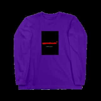 R_GD_trackの自作ロゴ Long sleeve T-shirts