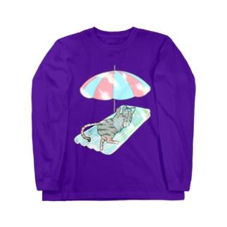 殿と海/わたしと猫の殿 Long sleeve T-shirts