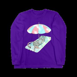 なごの殿と海/わたしと猫の殿 Long sleeve T-shirts