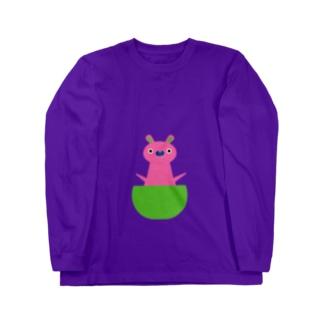 カンガルー赤ちゃん Long sleeve T-shirts