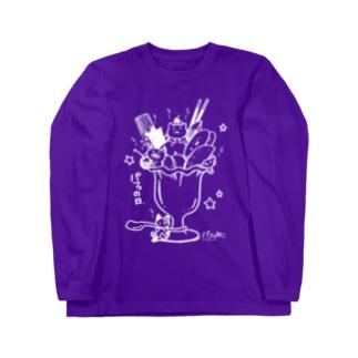 パフェ猫01 Long sleeve T-shirts