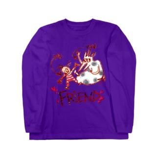 "Benizakeの""Friend"" Long sleeve T-shirts"
