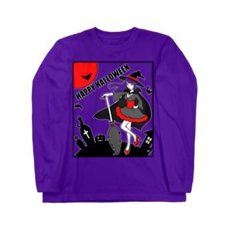 魔女のハロウィンナイト Long sleeve T-shirts