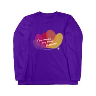 ファミリーハウス<チャリティ>花 Long sleeve T-shirts