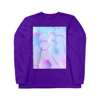 momo_emi 蜂の巣 Long sleeve T-shirts