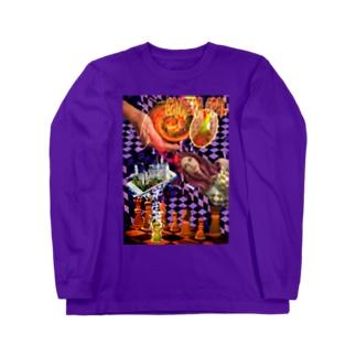 パワーストーン『カンテラオパール』 Long sleeve T-shirts
