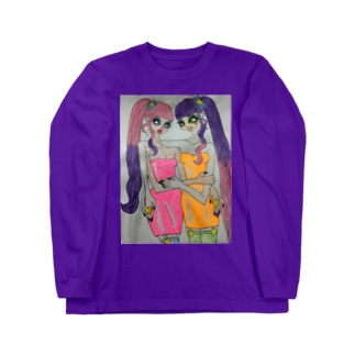 neon dressed girls Long sleeve T-shirts