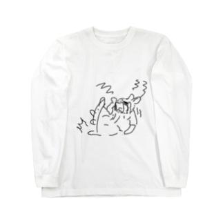うさぎむすこ(黒3) ロングスリーブTシャツ