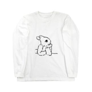 うさぎむすこ(黒7) ロングスリーブTシャツ