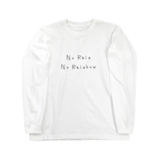 No Rain, No Rainbow ロングスリーブTシャツ