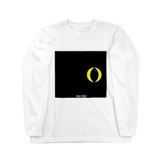 闇夜の黒猫 ロングスリーブTシャツ
