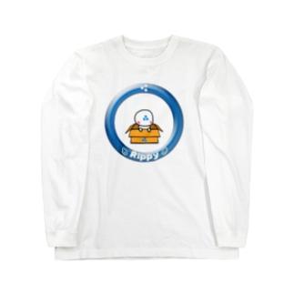 りっぴぃくんダンボールバージョン ロングスリーブTシャツ
