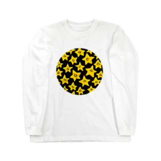 MOGUMO SHOPのきいろいほしくん ロングスリーブTシャツ