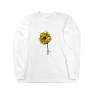 花 きいろ ロングスリーブTシャツ