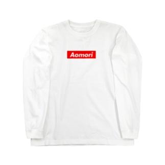 AOMORI(青森県/あおもり)都道府県 ボックスロゴ ロングスリーブTシャツ