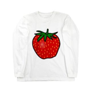 イラストいちごイチゴ苺! ロングスリーブTシャツ