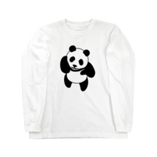 てへっパンダ ロングスリーブTシャツ