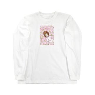 「薔薇の中の眠り姫」 ロングスリーブTシャツ