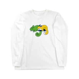 エボシカメレオンっぽい ロングスリーブTシャツ