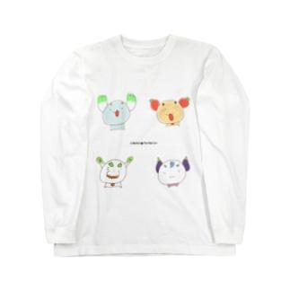 ゆるやさいぬ【いつものよんひき】 ロングスリーブTシャツ