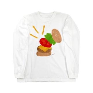 楽しくなっちゃうハンバーガー ロングスリーブTシャツ