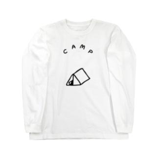 三角のテント ロングスリーブTシャツ