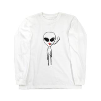 宇宙人 ロングスリーブTシャツ