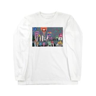Tokyo City a.k.a. Eyes cream City ロングスリーブTシャツ