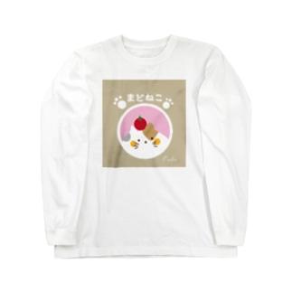 【窓×ネコ】まどねこシリーズ❤三毛にゃん ロングスリーブTシャツ